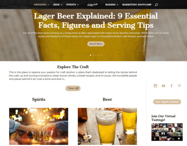 blog examples - The Crafty Cask