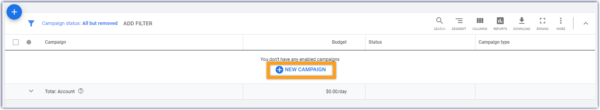 "How to Advertise on Google - Log in to your account and choose ""new campaigns"""