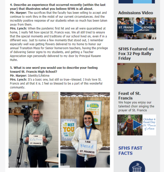 school newsletters are a great place to highlight instructors