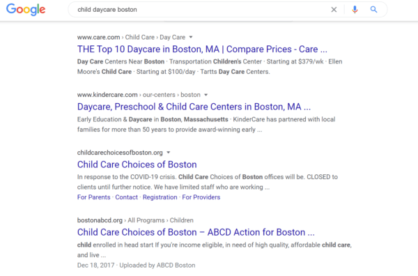 when writing a child day care blog, include keywords and phrases that your potential customers would use to find you
