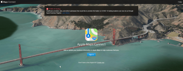 marketing for accounting firms requires registering with Apple Maps Connect