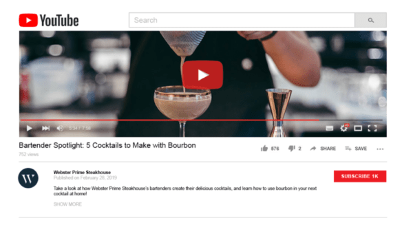 restaurant video marketing can include social media teasers that link to longer videos