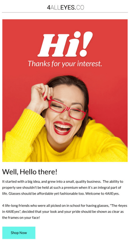 welcome email series 1