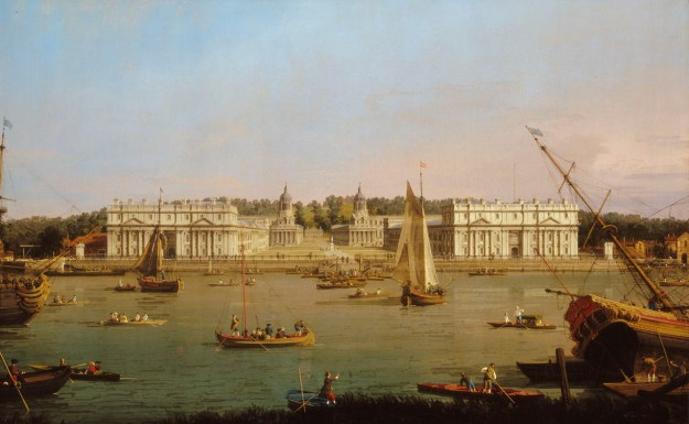 View of Naval Hospital by Canaletto