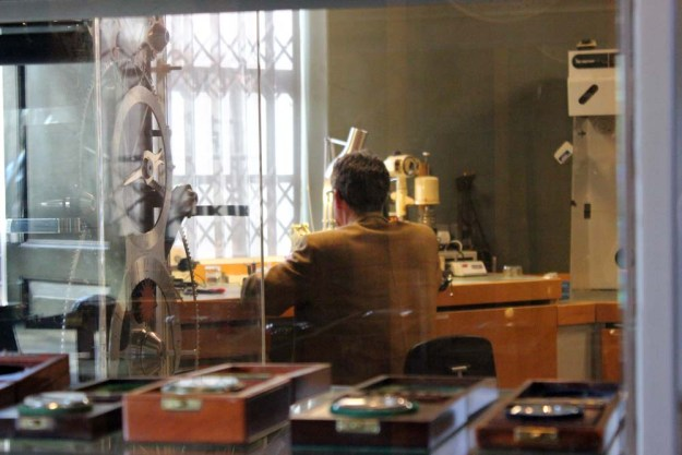 Horologist at work in the Royal Observatory