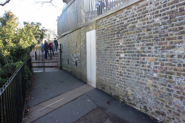 The Prime Meridian also runs through this quiet path leading to the Astronomer's