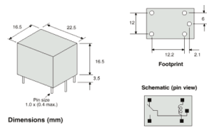 sugar cube relay dimensions