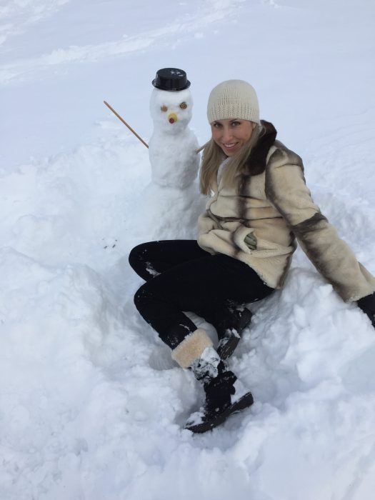 Thanks to Blizzard Jonas, our financial aid officer, Veronika, built her first snowman in NYC this year! She made the new friend at the Great Lawn in Central Park.