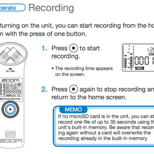 Record instructions