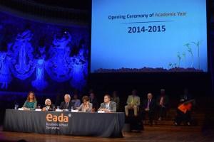 El presidente del Patronato de la Fundación EADA,, David Parcerisas, en un momento de su discurso inaugural .