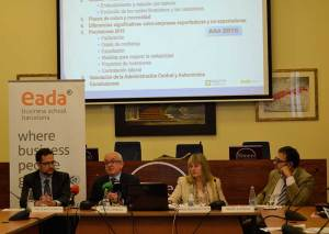 Rafael Sambola, autor del 'VI Diagnóstico Financiero de la Empresa Española' y profesor de Finanzas de EADA, se refirió a un cambio de ciclo económico que se inició en 2014.