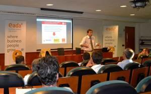 Marc Grau, director general de Metro de Barcelona, explicó en EADA la estrategia de Operaciones y Supply Chain de esta empresa que cubre el 40% de la movilidad pública en el área metropolitana de Barcelona.