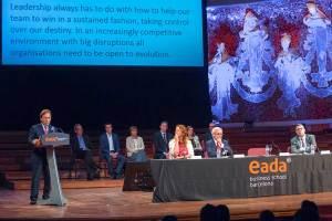 La lección magistral que impartió Josep Santacreu, consejero delegado de DKV, se centró en los nuevos retos que deben asumir los directivos en el nuevo contexto de las empresas responsables.