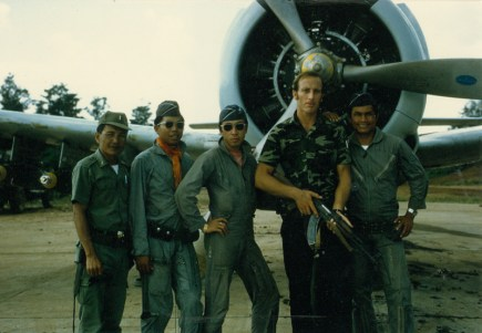 Gene Hamner and T-28 pilots