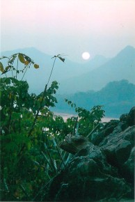 Sunset from Phousi Hill, Luang Prabang, Laos