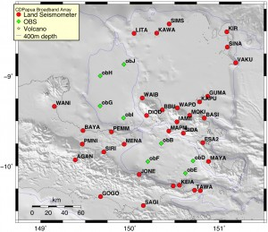 Papua New Guinea, seismometers, earthquakes