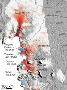 glaciers studied by Rignot's research team. Image credit: Eric Rignot
