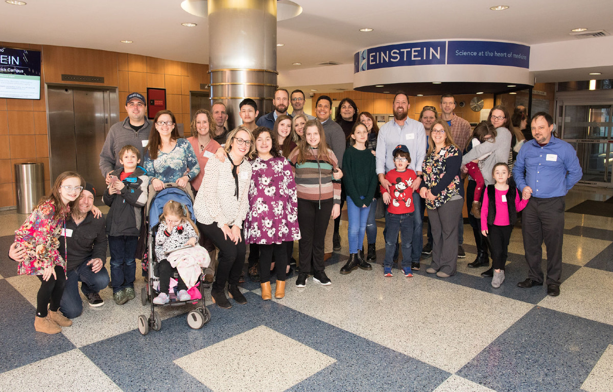 Families at Rare Disease Day Event at Albert Einstein College of Medicine