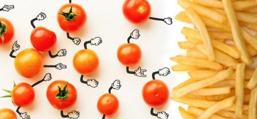 Tomate Cherry vs Papa fritas
