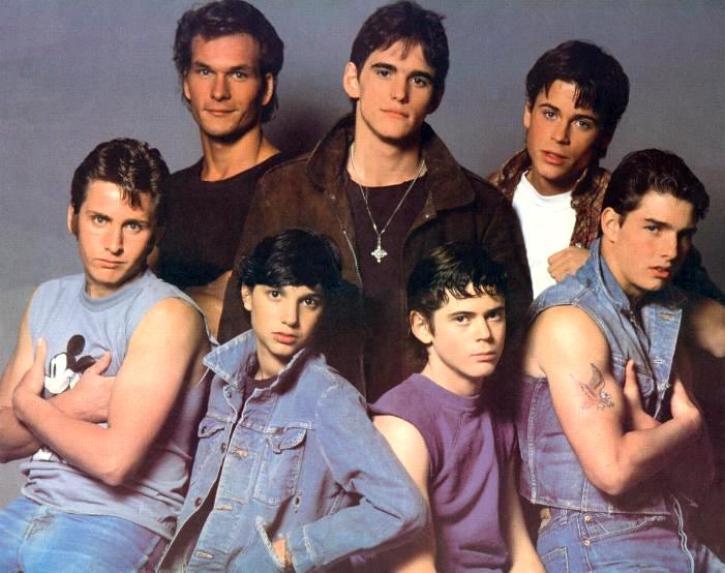 Cinema, Rebeldes, fancis Ford Coppola, Matt Dillon, Patrick Swayze, Rob Lowe, Diane Lane, Tom Cruise, Oxford Blues, Young blood, st Elmo, punt de trobada, The breakfast club, Pretty in pink, Say anything, els bastards