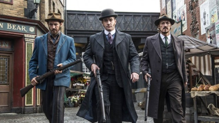 Programme Name: Ripper Street - TX: n/a - Episode: n/a (No. n/a) - Picture Shows: Homer Jackson (ADAM ROTHENBERG), Edmund Reid (MATTHEW MACFADYEN), Bennet Drake (JEROME FLYNN) - (C) Tiger Aspect 2014 - Photographer: Bernard Walsh