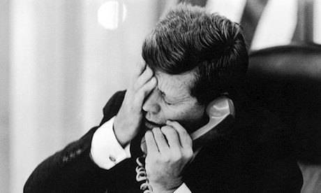 President Kennedy hears of the assasination of Patrice Lumumba in 1961