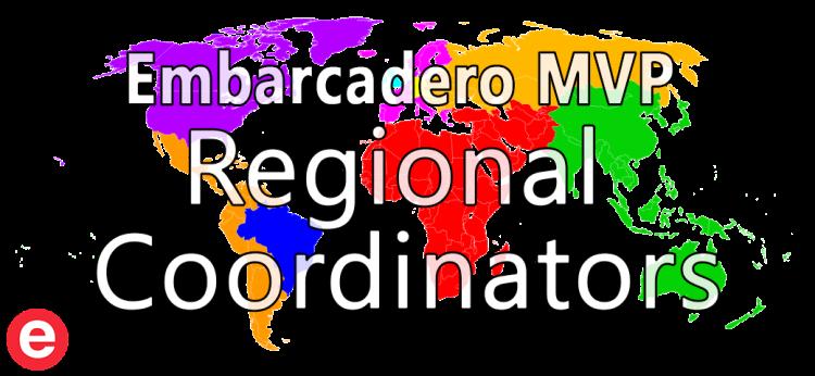 Embarcadero MVP Regional Coordinators