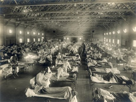 Camp Funston emergency hospital, Kansas 1919