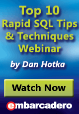 Watch Top Ten Rapid SQL Tips webinar on demand