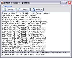 selectprocess