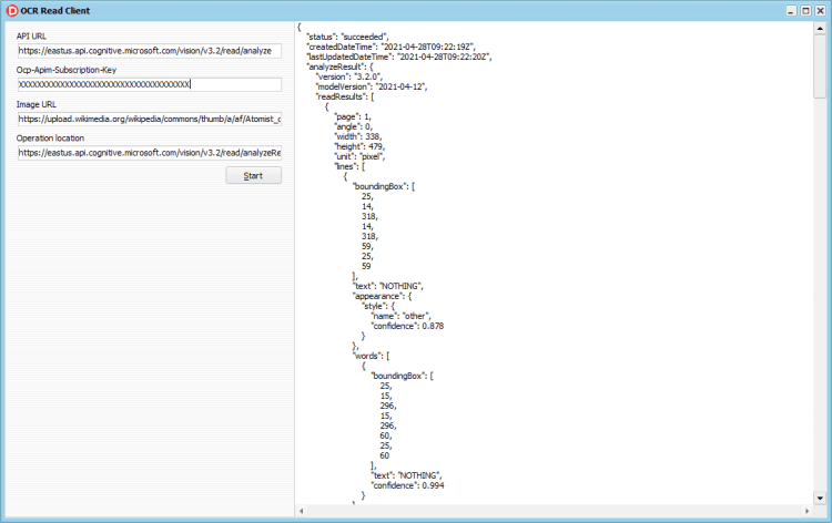 OCR Client API in action