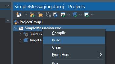 Building the STOMP test in RAD Studio Delphi