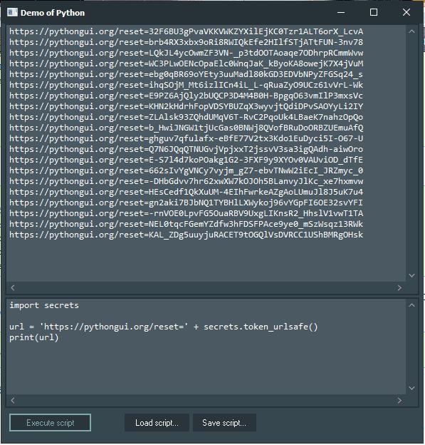 secrets Demo with Python4Delphi in Windows.