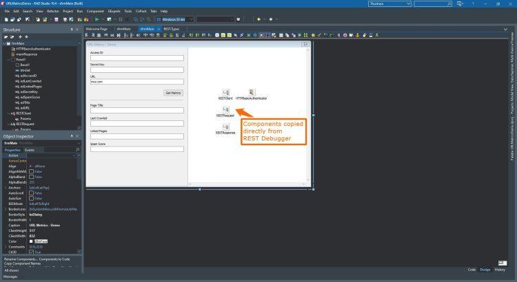 REST Debuger Copy Components