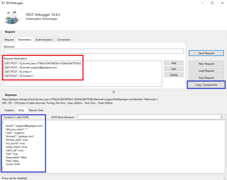 How To Validate And Verify Email IDs Using MailboxLayer API REST response
