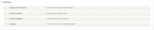 multilingual optional modules