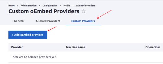 Custom eEmbed Provider