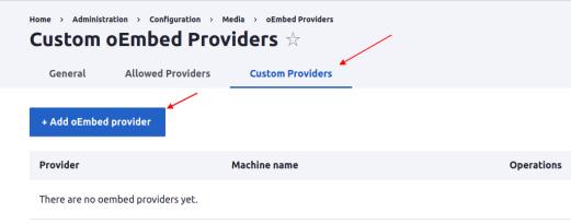 Custom-oEmbed-provider
