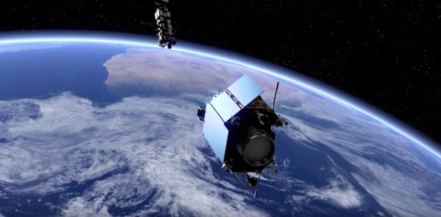 e.Deorbit closing on target satellite