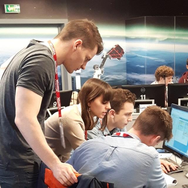 Students working together during CDF workshop