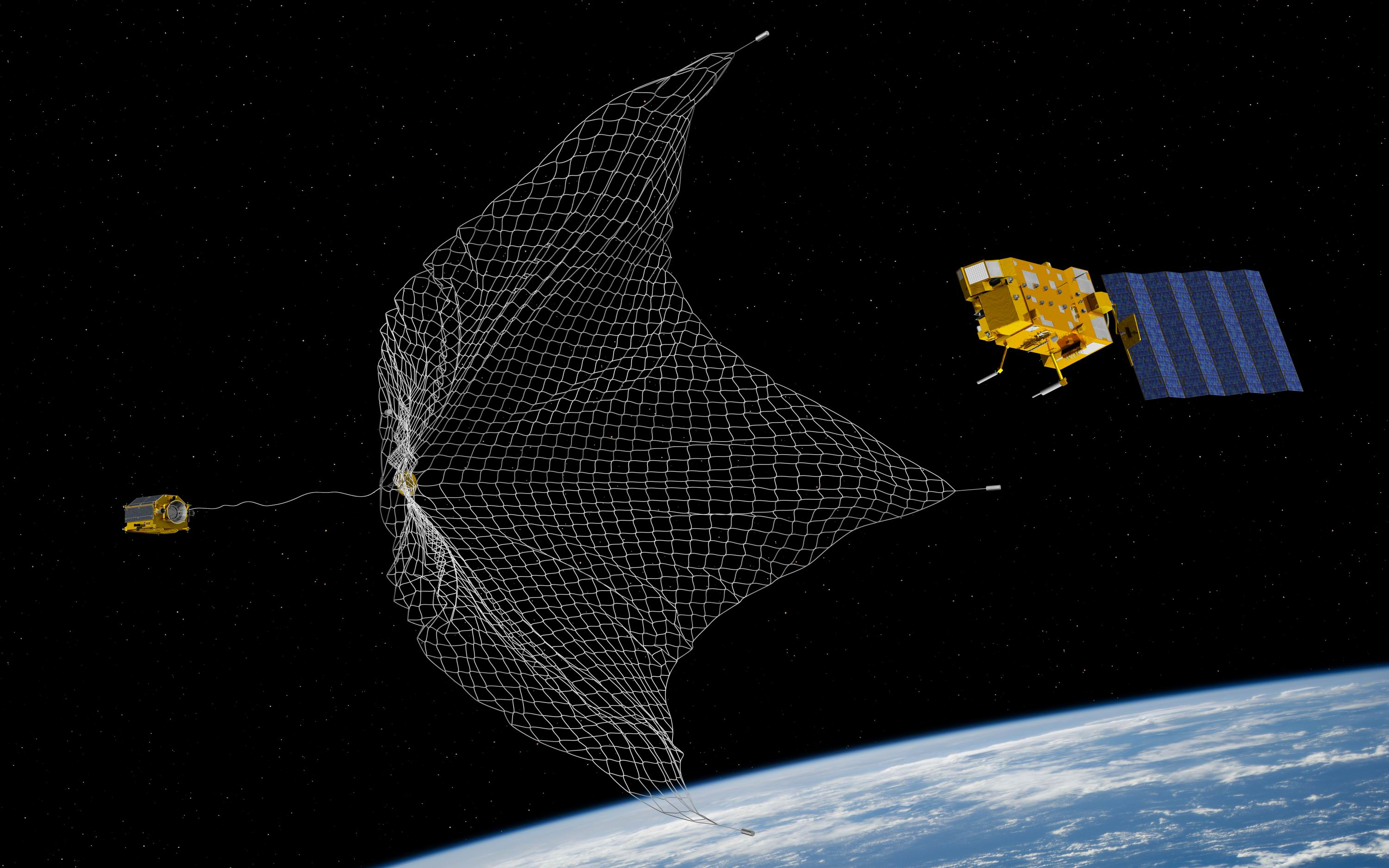 Image result for space net space debris