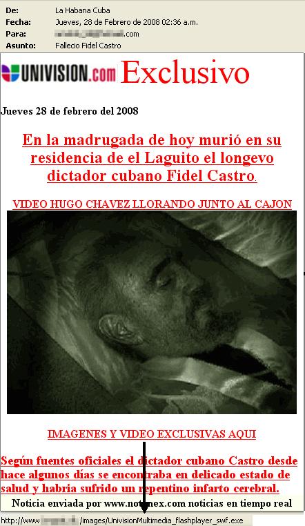 Falsa muerte de Fidel Castro