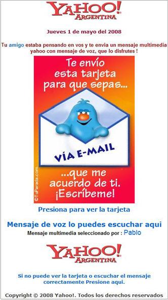 Postal falsa