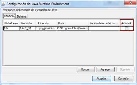 Desactivar Java Internet Explorer
