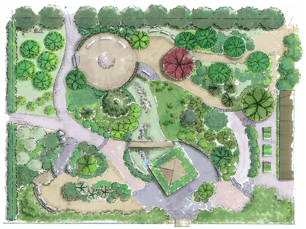 The Garden - The Sustainable Garden on Backyard Layout Planner  id=18704