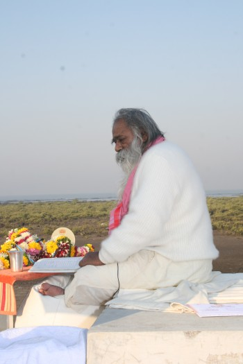 """Charan Sparsh Revered Gurudev"""