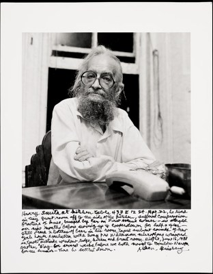 Harry Smith at Allen Ginsberg's Kitchen Table, New York City, 16 June 1988 / Allen Ginsberg