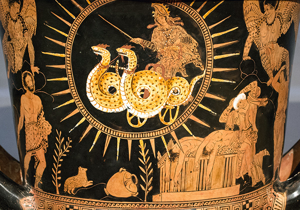 Mixing Vessel with Medea Departing in a Chariot