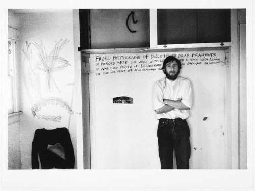 Wallace Berman in an abandoned building
