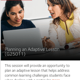 Planning an Adaptive Lesson Workshop